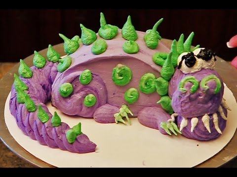 Dinosaur Cake How To Decorate A Mini Dinosaur Cake Youtube