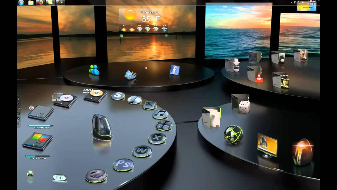 Classic 3d Desktop Workplace Wallpaper 3d Desktop Colossus 3g For Desktopx Youtube
