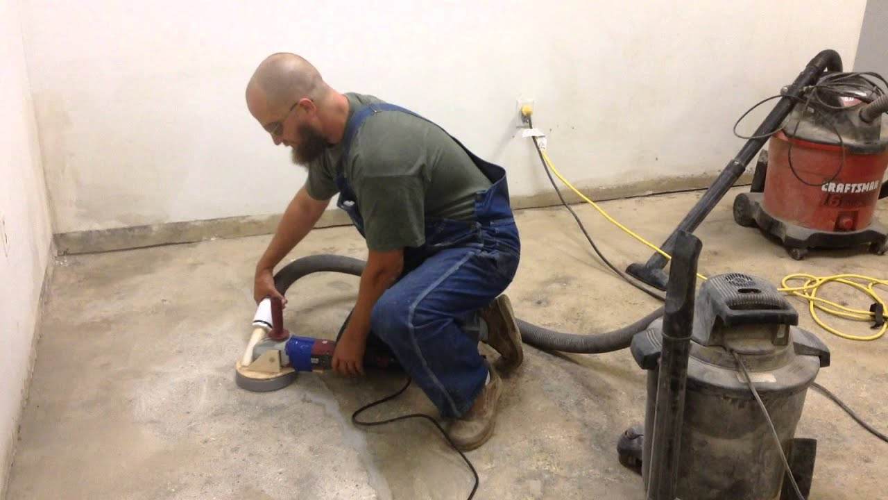 Homemade dust collector for floor grinder youtube for How to clean concrete dust from floors