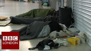 The shopping centre that's become an unofficial homeless shelter by night – BBC London News