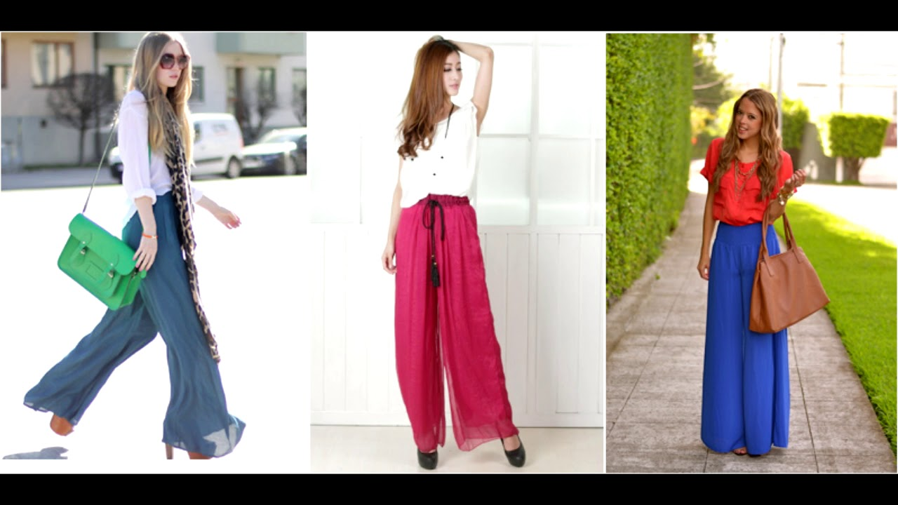 8e741a43a0 Como vestir con pantalones anchos 2018 - YouTube