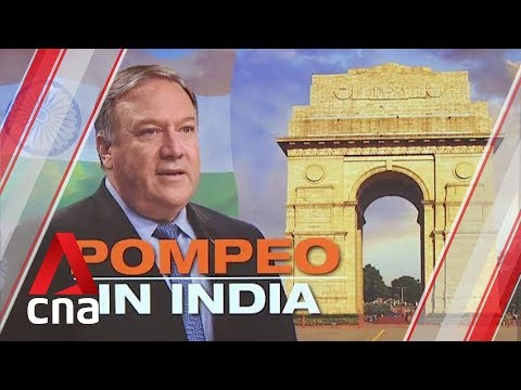 US Secretary of State Mike Pompeo on three-day visit to India