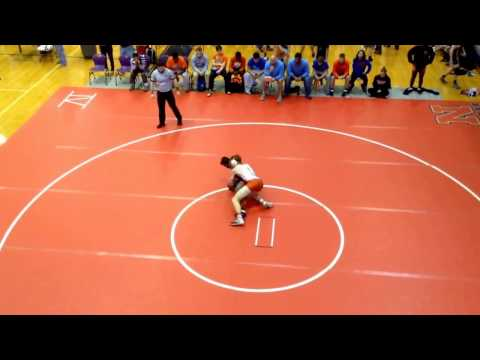 Connor's pin two of four at Monroe Area High School Duals. 12/22/16