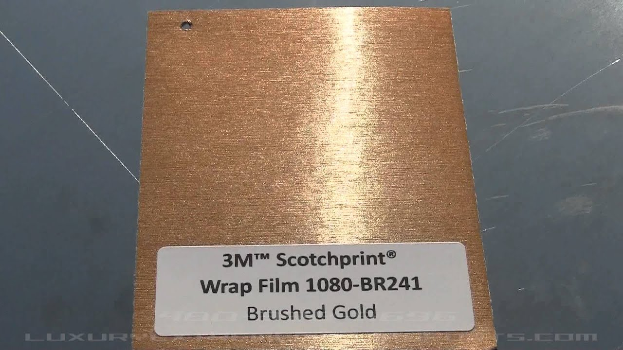 3m Wrap Vinyl Gold Brushed