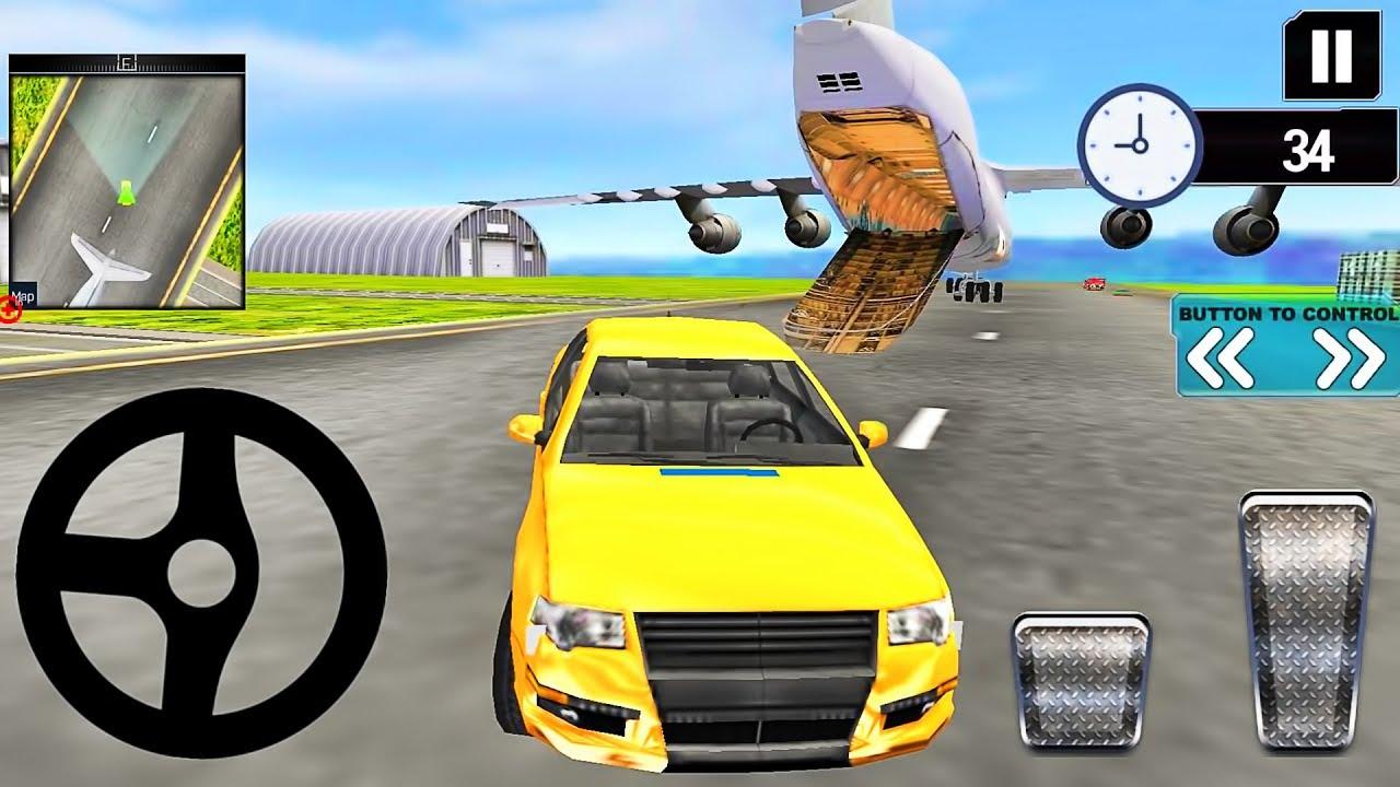Modern Car Transporter Plane 3d Car Simulator Android Gameplay Youtube