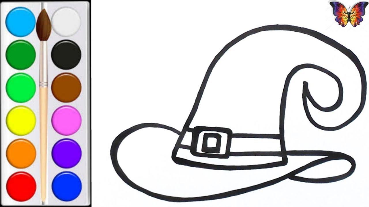 Как нарисовать ШЛЯПУ ВЕДЬМОЧКИ / мультик раскраска ...