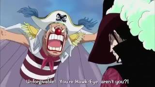 One Piece - Luffy Uses Buggy VS Mihawk's Attacks In Marineford !! Funny Moment  ENG SUB