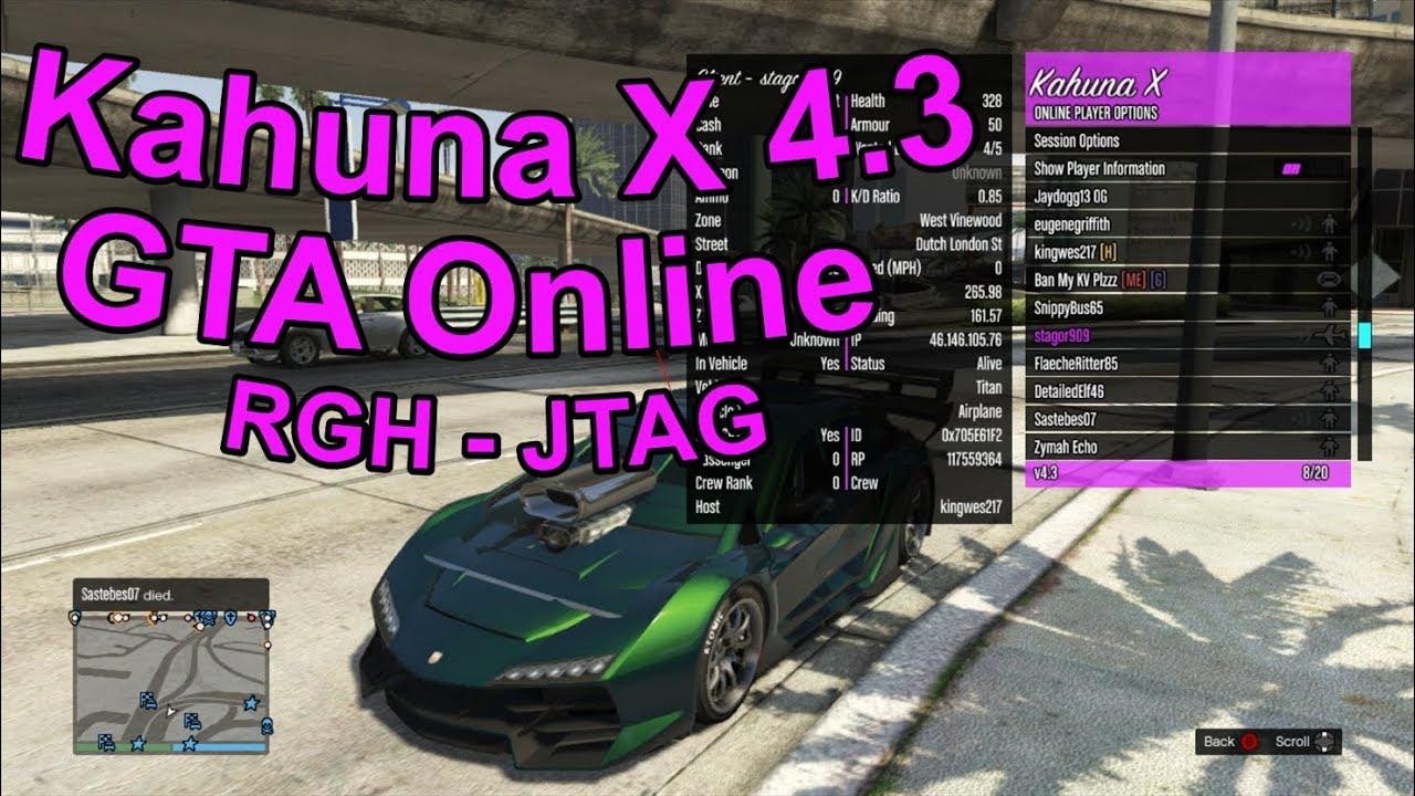 UPDATE! - Kahuna X 4 3 Mod Menu - GTA Online - [RGH/JTAG]