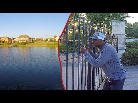 Must Fish Gated Community Pond LOADED With Fish!!