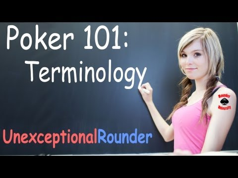 Poker Definitions and Terminology - Texas Holdem Poker Strategy Lessons and  Fundamentals