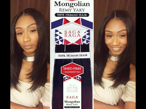 Sng Saga Mongolian Remy Yaky Hair Review Sew In 2 1 Packs Color