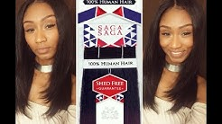 SNG SAGA Mongolian Remy Yaky hair review! Sew-in! 2 1/2 packs*Color #2