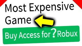 MOST EXPENSIVE ROBLOX GAME IN THE WORLD