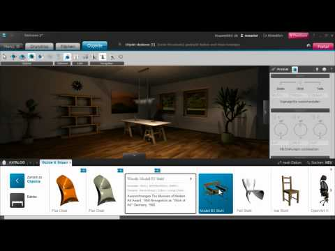 roomeon 3d planer tutorial 7 katalog youtube. Black Bedroom Furniture Sets. Home Design Ideas