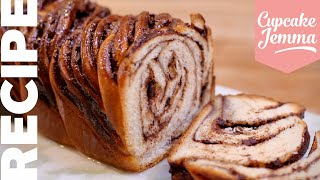 Amazing Twisted CHOCOLATE & NUTELLA BABKA Bread Recipe | Cupcake Jemma