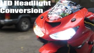 Motorcycle LED Headlights Install(Buy Your LED Headlights Here: http://www.ebay.com/itm/251602225183?_trksid=p2059210.m2749.l2649&ssPageName=STRK%3AMEBIDX%3AIT Buy ..., 2014-10-29T11:00:02.000Z)