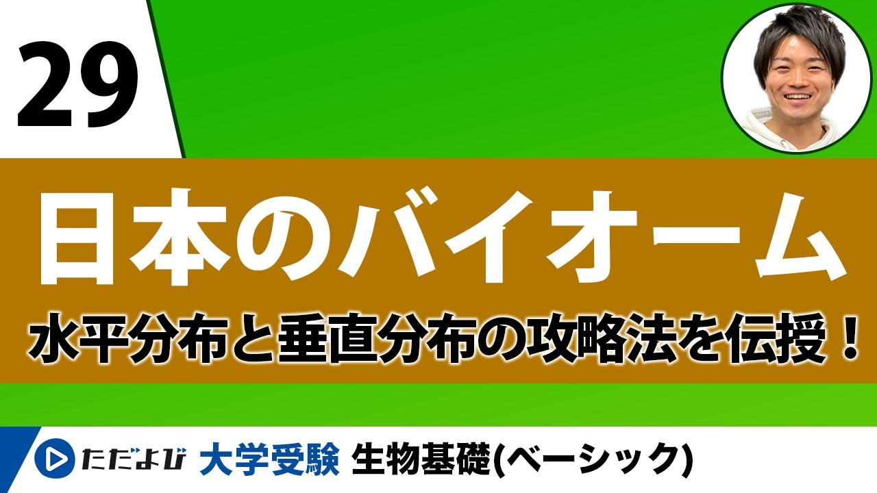 【生物基礎】日本のバイオーム【第29講】