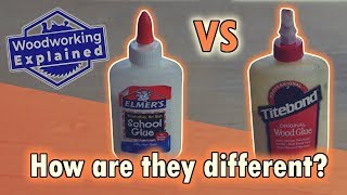 Elmer's School Glue vs Titebond Type I Wood Glue