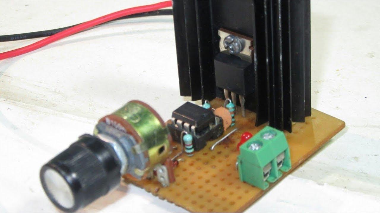 Control Dc Motor Speed Using Ne555 Creative Electronics Youtube Circuit Description Sequential Timer