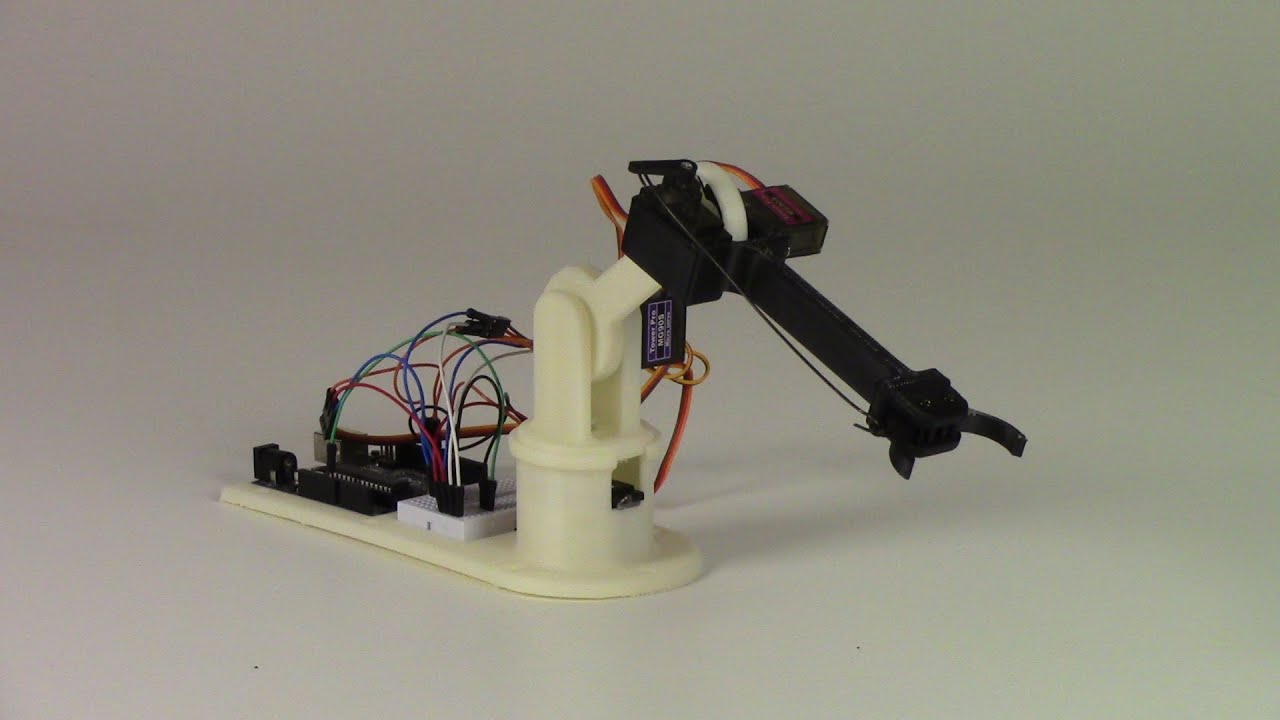 Using gui to train arduino robot arm youtube