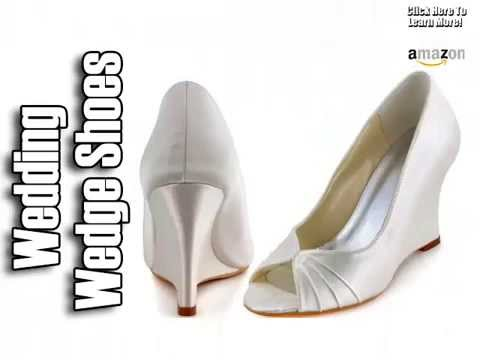 Wedding Wedge Shoes - Wedding Shoes For Bride - YouTube