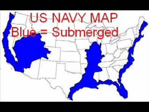 Navy Us Maps Navy map of future earth changes in the United States   YouTube Navy Us Maps