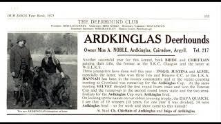 ARDKINGLAS Deerhounds (Kennel advertisements collection of Joerg Yoki)