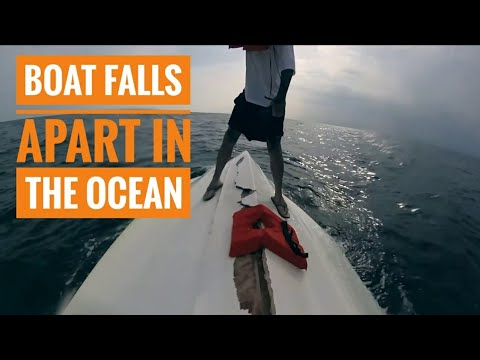 "The First and Last Trip for ""Going Deep"" (Boat Falls Apart at Sea)"