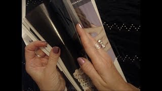 ASMR ~ Magazine Page Flipping & Whispered Reading