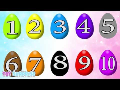 números y colores en inglés |  huevos sorpresa | video educativo para niños