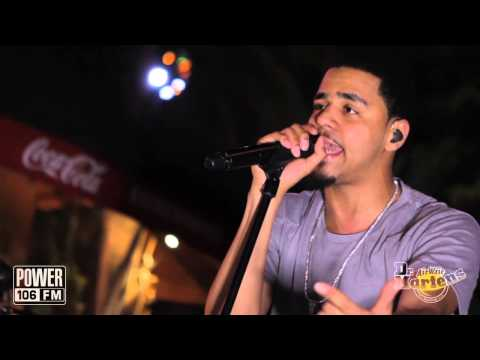 J.Cole performs 'Crooked Smile'  LIVE at POWER 106