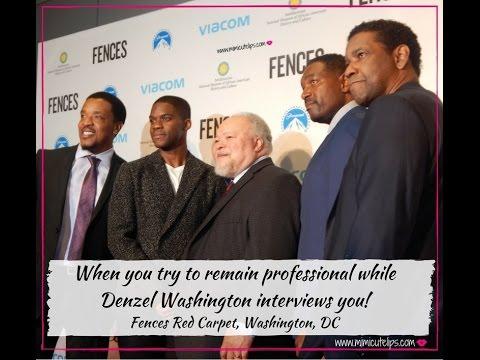 Fences Red Carpet & Denzel Washington Interview #FencesMovie