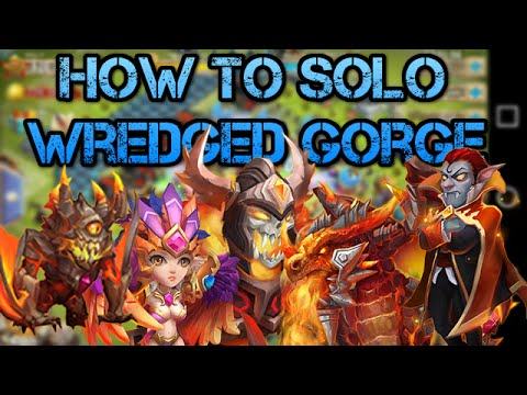 CASTLE CLASH: How To Solo Wretched Gorge 1!!!
