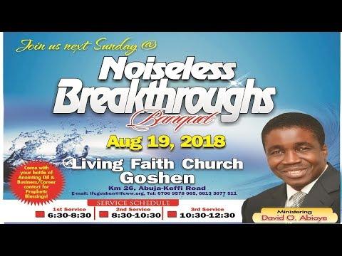 Noiseless Breakthroughs Banquet ( 1st Service ) August 19, 2018