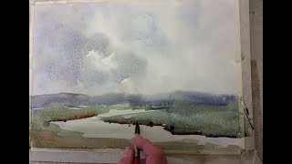 wet into wet A practice for beginners and more advanced watercolour painters