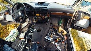 BMW e34 - Подробный разбор салона - Часть 2 - борода, ручник, задний ковер