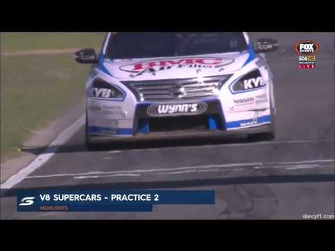 V8 Supercars 2015 Perth Practice 2 Highlights