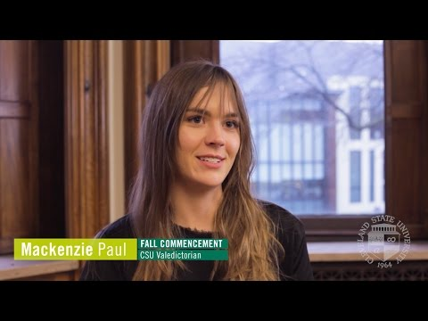 Fall 2016 Valedictorian | Mackenzie Paul