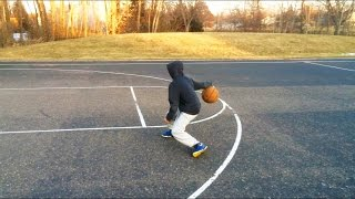 Caleb practicing his Steph Curry moves - Basketball Skills