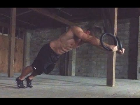 How to do Pushups on Gymnastic Olympic Rings for Chest & Triceps