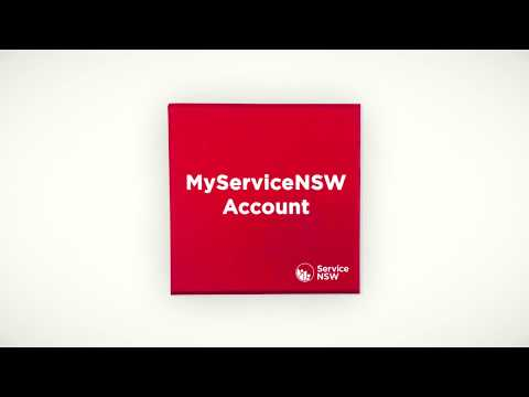 Sign up to a MyServiceNSW account