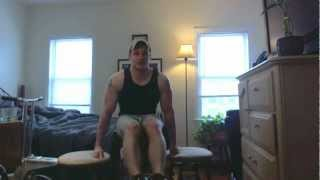 Frugal Exercise Demo Barstool Bodyweight Tricep Dips