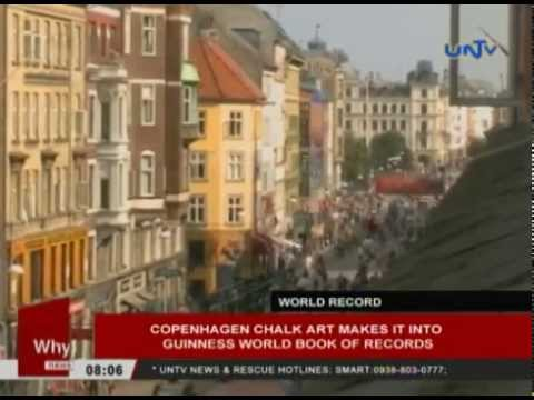 Copenhagen chalk art makes it into Guinness World Book of Records