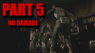 Resident Evil Remastered Walkthrough Part 5 - Chris Redfield No Damage (PS4/PC)