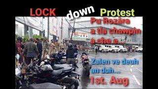 LOCKdown PROTEST to day// Vanapa Hall kawtah ...Pu Rozara-a tlachawpin a che...