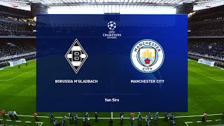 Borussia m'gladbach vs manchester city - ucl 24/02/2021 gameplay