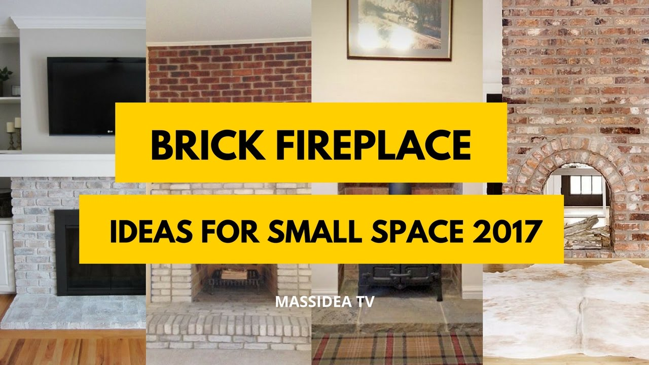 50+ Awesome Brick Fireplace Ideas for Small Space 2017 - YouTube