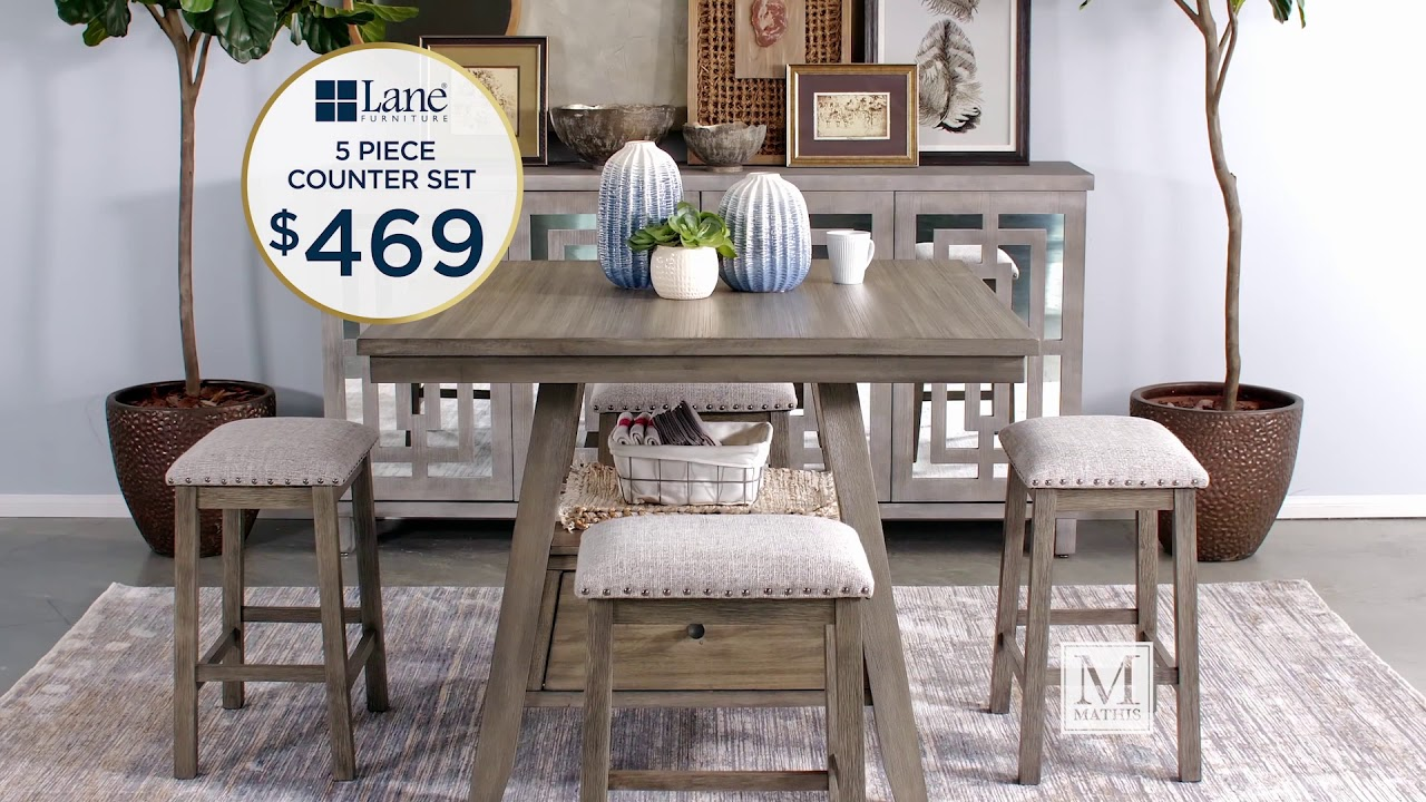 Navy And Gold Dining Room, Anniversary Savings On Dining Sets Www Mathisbrothers Com Youtube