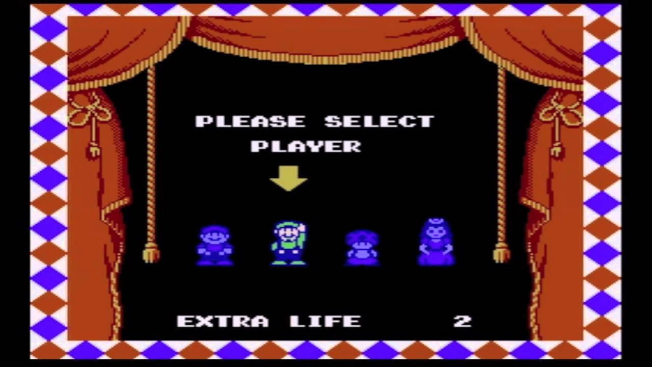 Lovely Vgm 111 Super Mario Bros 2 Character Select Youtube