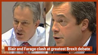 BREXIT - Relive Nigel Farage vs Tony Blair EU clash at European Parliament